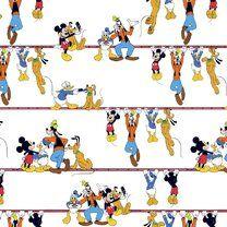 Ptx21 669108-10 Katoen Disney mickey and friends wit/multi - Ptx21 669108-10 Katoen Disney mickey and friends wit/multi