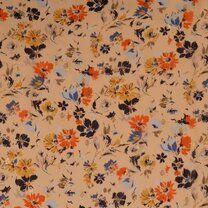 KN21 17936-570 Chiffon yoryo foil romantic flowers peach - KN21 17936-570 Chiffon yoryo foil romantic flowers peach