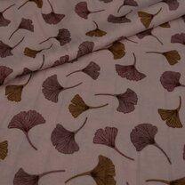 KN21 17666-880 Hydrofiele tricot ginkgo roze - KN21 17666-880 Hydrofiele tricot ginkgo roze