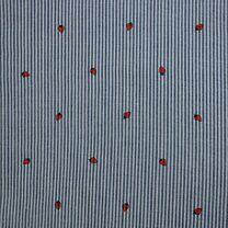 KN21 17999-606 Seersucker stripe Erdbeere blau/rot - KN21 17999-606 Seersucker stripe Erdbeere blau/rot