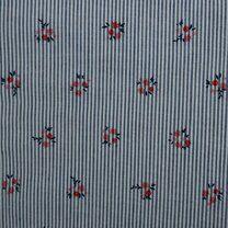 KN21 17999-609 Seersucker bloemen blauw/rood - KN21 17999-609 Seersucker bloemen blauw/rood