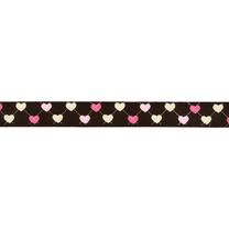 -Ripslint hartje 16 mm donkerbruin 22384-16 - Ripslint hartje 16 mm donkerbruin 22384-16