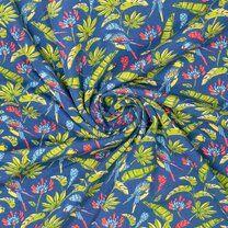 Ptx21 346000-12 Tricot Pure Bamboo papegaai blauw - Ptx21 346000-12 Tricot Pure Bamboo papegaai blauw