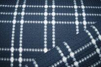 -KN21 18460-600 Wafelkatoen ruit donkerblauw - KN21 18460-600 Wafelkatoen ruit donkerblauw