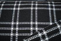 -KN21 18460-999 Wafelkatoen ruit zwart - KN21 18460-999 Wafelkatoen ruit zwart