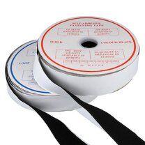 Klittenband Plakbaar zwart 5 cm breed - Klittenband Plakbaar zwart 5 cm breed