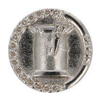 Knoop metaal klosje/schaar nickel (5658/36)* - Knoop metaal klosje/schaar nickel (5658/36)*