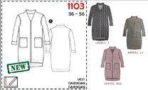 -It's a Fits 1103. Patroon vest dames - It's a Fits 1103. Patroon vest dames