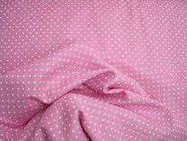 NB 5575-011 Katoen stipjes roze/wit - NB 5575-011 Katoen stipjes roze/wit