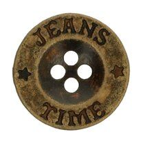 Knoop grijs Jeans-Time 1,8 cm (5542-28)* - Knoop grijs Jeans-Time 1,8 cm (5542-28)*