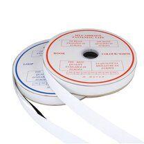 -XVE11-550 Klittenband Plakbaar 2.5 cm breed Wit - XVE11-550 Klittenband Plakbaar 2.5 cm breed Wit