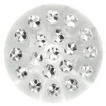 Knoop transparant met steentjes 2 cm (5669/34)* - Knoop transparant met steentjes 2 cm (5669/34)*