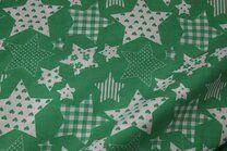 NB 5649-025 Katoen fantasie sterren groen - NB 5649-025 Katoen fantasie sterren groen