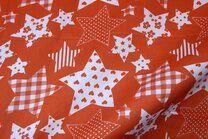 NB 5649-036 Katoen fantasie sterren oranje - NB 5649-036 Katoen fantasie sterren oranje