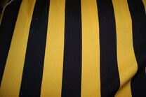 Jo 3059 Texture carnaval streep breed geel/zwart - Jo 3059 Texture carnaval streep breed geel/zwart