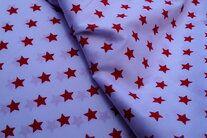 NB 5571-050 Baumwolle Sterne weiss/rot - NB 5571-050 Baumwolle Sterne weiss/rot