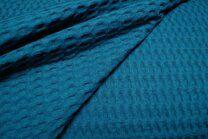 KN 0700-670 Grobe Waffelbaumwolle petrol - KN 0700-670 Grobe Waffelbaumwolle petrol