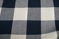 Baumwolle Karo groß dunkelblau - Baumwolle Karo groß dunkelblau