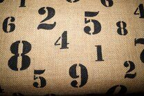 Jute cijfers naturel/zwart - Jute cijfers naturel/zwart