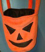 Oranje Halloween Emmer slaapplek voor tamme ratjes