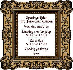 De Stoffenkraam Kampen OPEN 01-02-14
