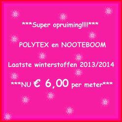 Super SALE, Polytex en Nooteboom winter 13/14