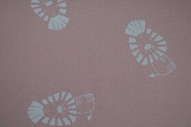 Canvas stof - KC2502-232 Canvas leeuw roze