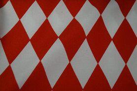 Gewebe - J Texture Raute rot/weiß