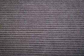 Taupe grijs - NB19 12501-054 Tricot corduroy grijs-taupe