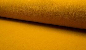Fleece stoffen - RS 0233-035 Fleece katoen geel