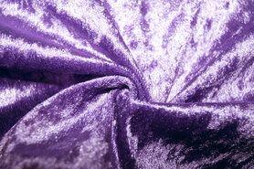Velours de panne aanbieding - NB 5666-043 Velours de panne lila