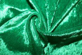 Velours de panne aanbieding - NB 5666-025 Velours de panne grasgroen