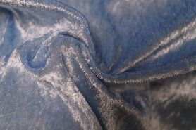 Carnavalsstoffen - NB 5666-002 Velours de panne lichtblauw