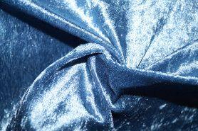 Velours de panne aanbieding - NB 5666-003 Velours de panne jeansblauw