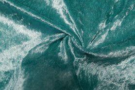 Carnavalsstoffen - NB 5666-104 Velours de panne aqua