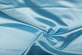 Carnavalsstoffen - NB 4796-003 Satijn lichtblauw