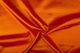 Carnavalsstoffen - NB 4796-036 Satijn oranje