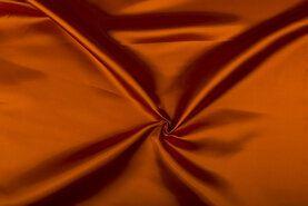 Carnavalsstoffen - NB 4796-037 Satijn oranje-terra
