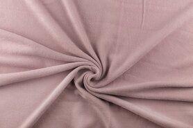 Goedkope fleece stof - NB 9111-011 Fleece oudroze