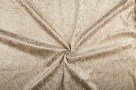 Velours de panne aanbieding - NB 5666-052 Velours de panne beige