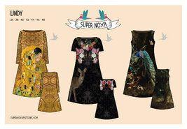 Stenzo stoffen - Super Nova patroon Lindy