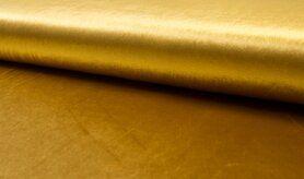 Polyester en spandex - MR1048-033 Velours de luxe oker