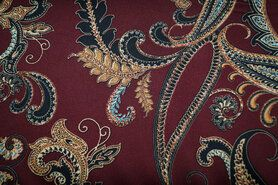 Stretch - KN19/20 16355-400 Stretch Conery Paisley bordeaux