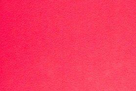 Stof per meter - Tassen vilt 7071-013 Knalroze 3mm