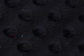 Polyester stof - NB 3347-008 Fur Niply donkerblauw (minky stof)