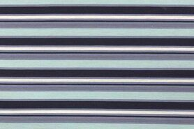 Baumwollstoffe - NB 1504-022 Katoen stripes mint