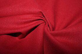 Stof per meter - Brandvertragende stof katoen warm rood