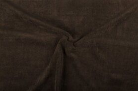 Ribcord en velvet - NB 1576-055 Ribcord lichte stretch donkerbruin