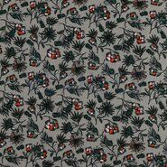 By Poppy 2020 - ByPoppy19/20 7338-006 Tricot modal bloemen grijs