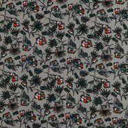By Poppy - ByPoppy19/20 7338-006 Tricot modal bloemen grijs